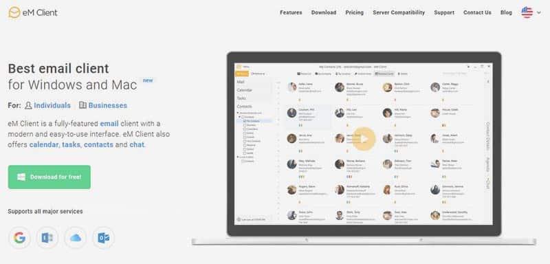 eM Client email client app.