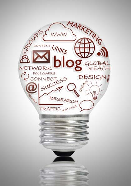 This is the blog bulb. Its purpose is to remind you of the importance of blogging in commerce today. Hire a ghostwriter to handle it if you can't.