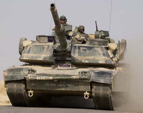 Abrams tank in Iraq.